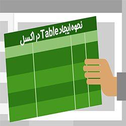 نحوه ایجاد Table در اکسل همراه با فیلم آموزش رایگان اکسل
